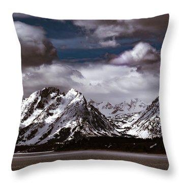 Jackson Lake Peaks Throw Pillow