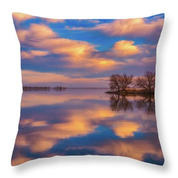 Throw Pillow featuring the photograph Jackson Lake Sunset by Darren White