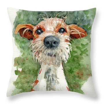 Throw Pillow featuring the painting Jackson by Lora Serra