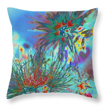 Jackson Pollok's Weeds  Throw Pillow