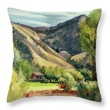 Throw Pillow featuring the painting Jackson Solitude by Kris Parins