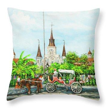 Jackson Square Carriage Throw Pillow