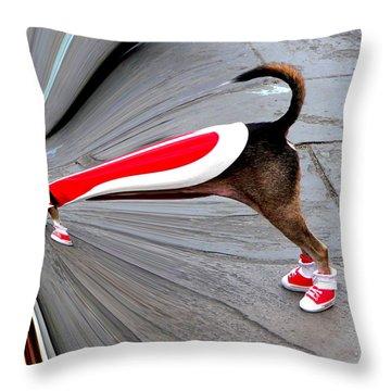 Jackson Square Chow Time Throw Pillow