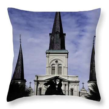 Jackson Square - Color Throw Pillow