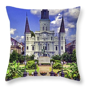 Jackson Square Throw Pillow by Dennis Cox WorldViews