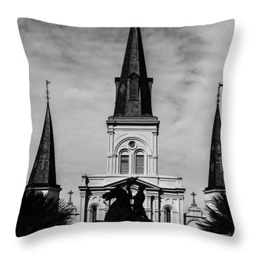 Jackson Square - Monochrome Throw Pillow