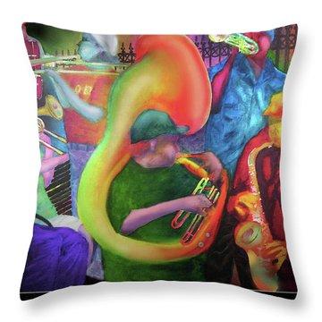 Jackson Square New Orleans Throw Pillow