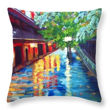 Jackson Square Reflections Throw Pillow