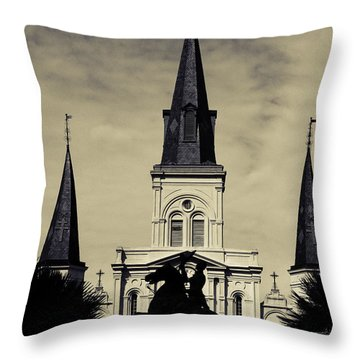Jackson Square - Split Tone Throw Pillow