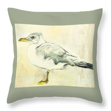 Jackson The Seagull Throw Pillow