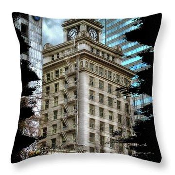 Jackson Tower Portland Oregon Throw Pillow