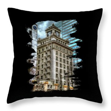 Jackson Tower Portland Oregon Throw Pillow