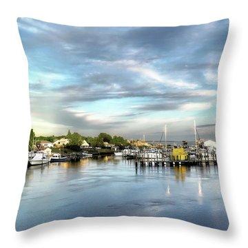 Hampton Bays Marina Throw Pillow