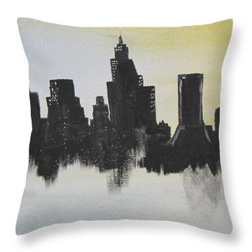 Throw Pillow featuring the painting Jacksonville Florida by Gary Smith