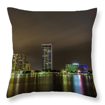 Jacksonville Landing Throw Pillow