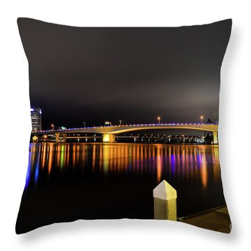 Jacksonville Night Sky Throw Pillow