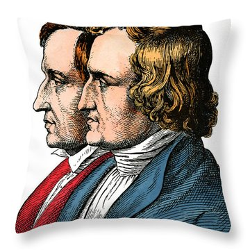 Jacob And Wilhelm Grimm Throw Pillow
