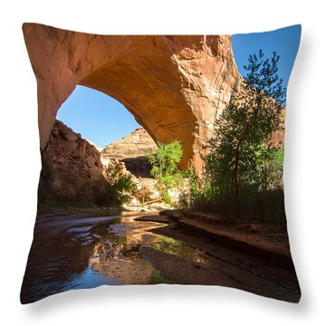 Jacob Hamblin Arch Throw Pillow