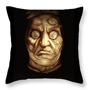 Jacob Marley Throw Pillow by Fred Larucci