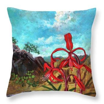 Jacobean Lily Of Mexico Throw Pillow