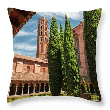 Throw Pillow featuring the photograph Jacobin Convent In Toulouse by Elena Elisseeva