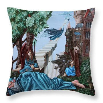 Jacob's Ladder Throw Pillow