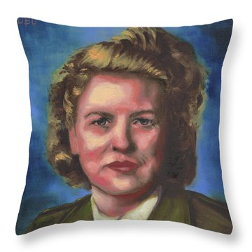 Jacqueline Cochran Throw Pillow