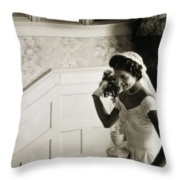 Jacqueline Kennedy Throw Pillow by Granger