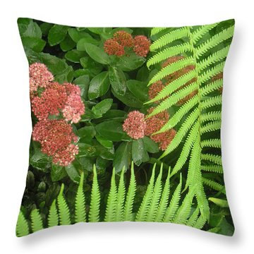 Jacqueline's Garden - Camaraderie Of Textures Too Throw Pillow by Lucyna A M Green