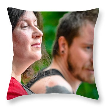 Throw Pillow featuring the photograph Jacquie And Aya by Brian Stevens