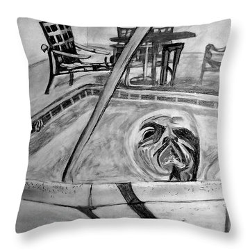 Jacuzzi Throw Pillow