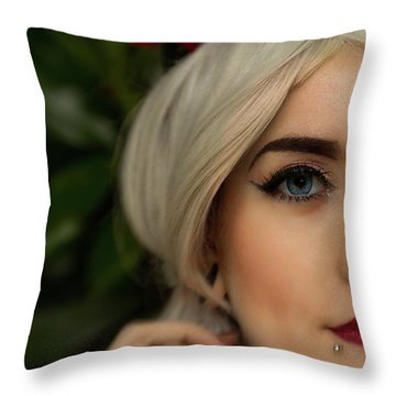 Jade Close Crop Throw Pillow