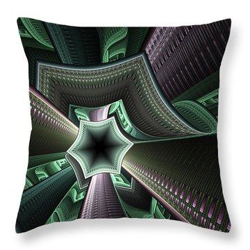 Jade Empress Throw Pillow