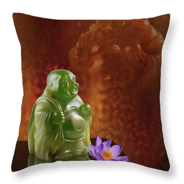 Jade Ho-tei Throw Pillow