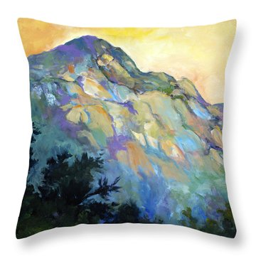 Jade Mountain Throw Pillow