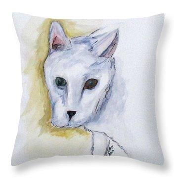 Jade The Cat Throw Pillow
