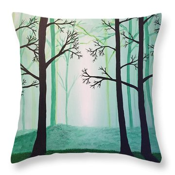 Jaded Forest Throw Pillow