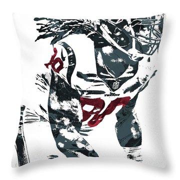 Throw Pillow featuring the mixed media Jadeveon Clowney Houston Texans Pixel Art by Joe Hamilton