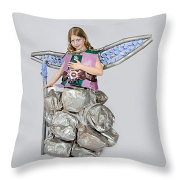 Jaeda In Techno Fairy Throw Pillow