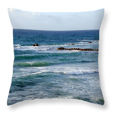 Jaffa Beach 10 Throw Pillow