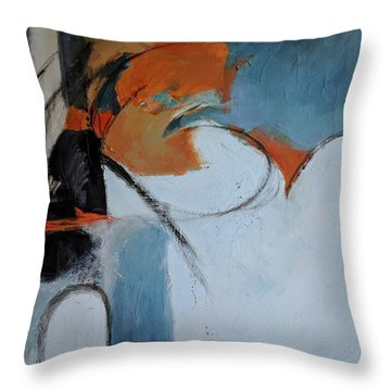 Throw Pillow featuring the painting Jaffa by Jillian Goldberg