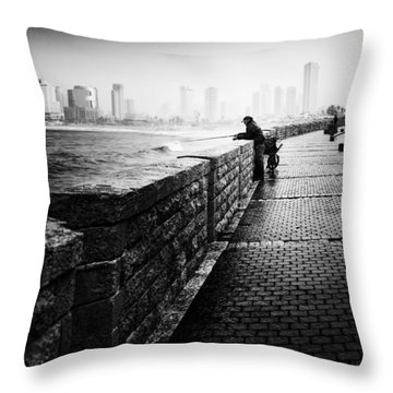 Jaffa Port Throw Pillow