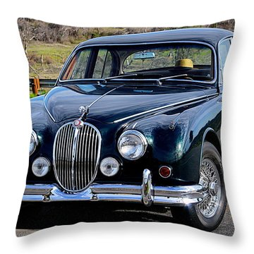 Throw Pillow featuring the photograph Jag by AJ Schibig