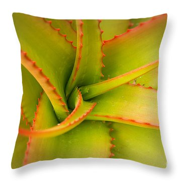 Jagged Aloe Throw Pillow