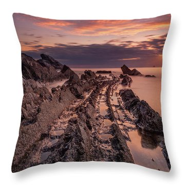 Jagged Rocks Throw Pillow