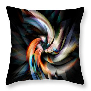 Jagged Twirl Throw Pillow