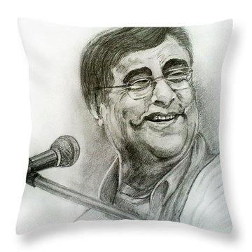 Jagjit Singh Throw Pillow by Mayur Sharma