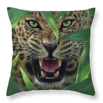Jaguar - Ambush Throw Pillow