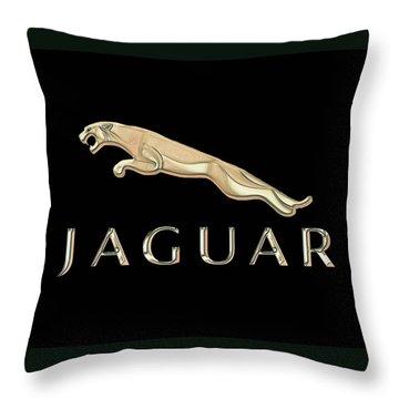 Jaguar Car Emblem Design Throw Pillow