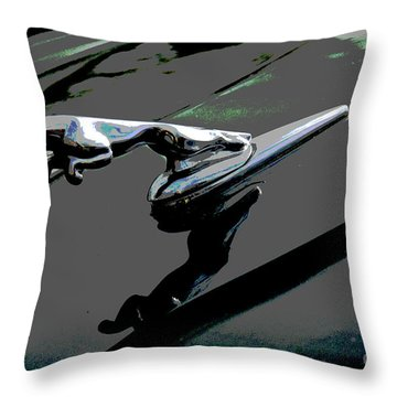 Jaguar Throw Pillow by Cindy Manero